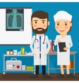 Doctor and nurse medical characters vector image