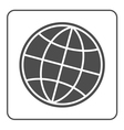 Earth globe icon Global world sign vector image