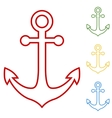 Anchor Set of line icons vector image