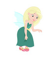 cute young fairy vector image