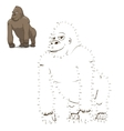 Draw the animal gorilla educational game vector image