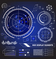 hud futuristic technology display element set vector image