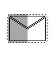Mail letter symbol vector image
