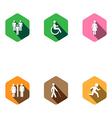 set of medical icons Flat desigh long shadows vector image