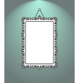 Vintage mirror frame Hanging on the wall Rich old vector image