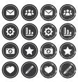 Website menu navigation retro grunge labels vector image