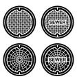manhole sewer cover black symbol vector image