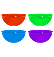 plastic bowls vector image vector image