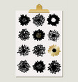 flower blossoms poster vector image