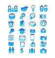 Set for 28 icon design vector image