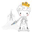 Fairytale prince -rain kids vector