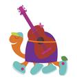 Romantic turtle guitarist vector image