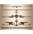 Decorative elements - Ship gun vector image vector image