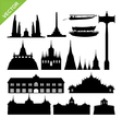 Bangkok symbol and landmark silhouettes set 2 vector image