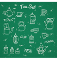 Chalk tea collection vector image