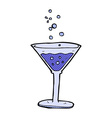 comic cartoon cocktail vector image