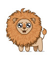 cute hungry lion vector image