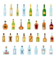 Flat icons set of alcoholic beverages Alcohol vector image