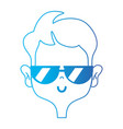 line funny man with hairstyle design vector image