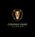 lion logo 2 black background vector image