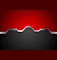 hi-tech abstract red and black background with vector image