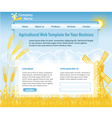 agriculture theme web design template vector image vector image