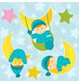 set icon baby boy sleeping vector image vector image