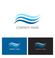 water wave aqua logo vector image