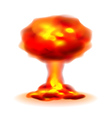 Nuclear explosion isolated on white vector image