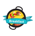 Breakfast Omelet with Sausage Icon in Modern Flat vector image