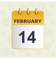 Calendar with snowflakes in gentle tones vector image
