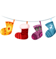 christmas stockings vector image