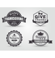 Happy Thanksgiving Badges and Labels vector image
