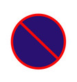 no parking stopoing anytime sign no parking vector image