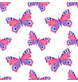 seamless pattern with watercolor butterflies vector image