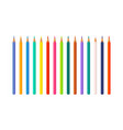 set of color pencils isolated vector image