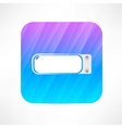 usb flash drive icon vector image