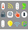 Smart House Flat Tech Icon Set vector image