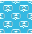 House message pattern vector image