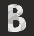 B wrapping surface alphabet letter on black vector image