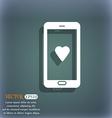 Love letter valentine day billet-doux romantic pen vector image