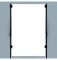 Blank banner display vector image