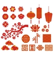 Chinese Korean or Japan icons for Chinese New vector image