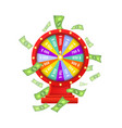 flat casino wheel of fortune isolated vector image