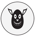 monochrome monster character vector image