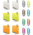 Notepapers and paperclips vector image