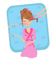 relaxation in beauty salon vector image