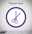 scissors barbershop symbol of hair and beauty vector image