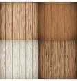 Wooden background set vector image