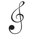 A G-clef sign vector image